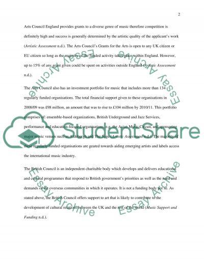 Funding report essay example