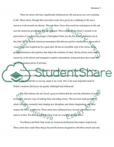 influnces Admission Essay example
