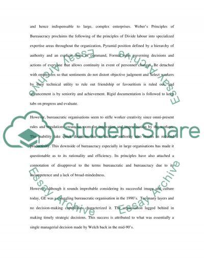 Organisation Behaviour essay example