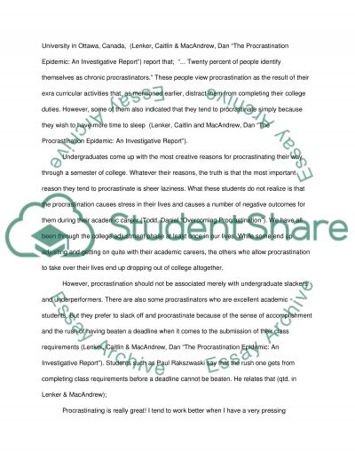 Essay On My School For Kids Why Do College Students Procrastinate Culture Of India Essay also Conscription Essay Why Do College Students Procrastinate Essay Example  Topics And  Professional Essay Format