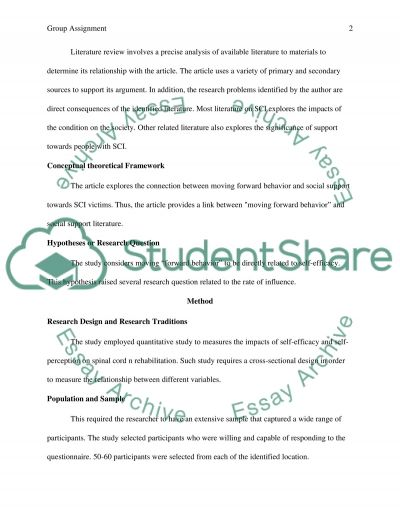 Group Assignment Article example