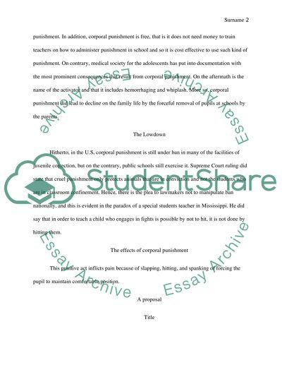 Corporal Punishment on School
