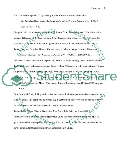 The proposal for an annotated bibliography