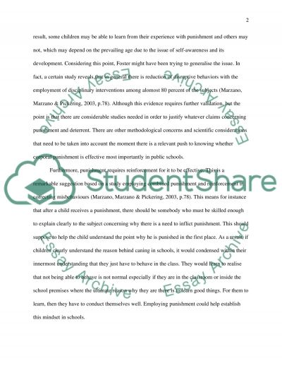 Should corporal punishment be permitted in public schools essay example