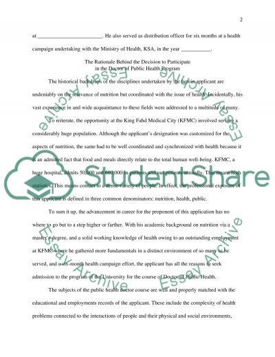 The Justifications that Merit the Approval for Admission essay example