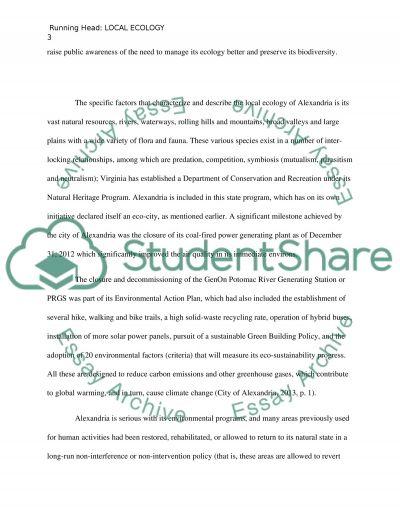 ECOLOGY essay example