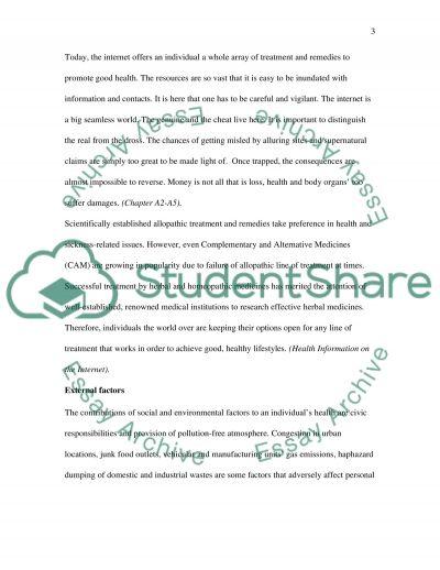 Personal Activity Plan Essay essay example