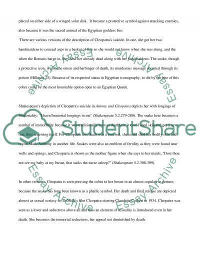 Cleopatras Suicide essay example