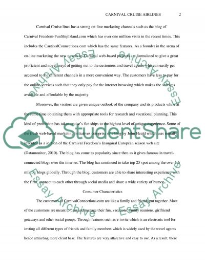 Film Analysis Project - Carnival Cruise Lines essay example
