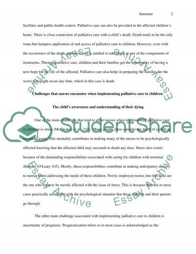 Care of Sick Children essay example