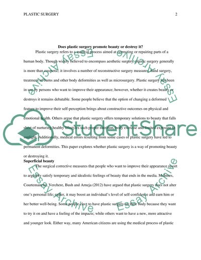 Important Of English Language Essay Does Plastic Surgery Promote Beauty Or Destroy It How To Make A Thesis Statement For An Essay also Essay Vs Research Paper Does Plastic Surgery Promote Beauty Or Destroy It Essay Thesis Of An Essay