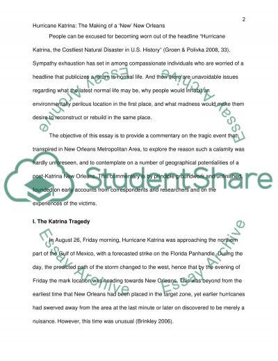 Hurricane Katrina Master Essay essay example