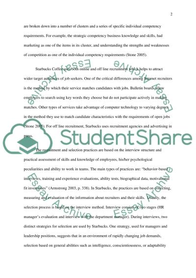 Effective recruitment and selection of employees essay example