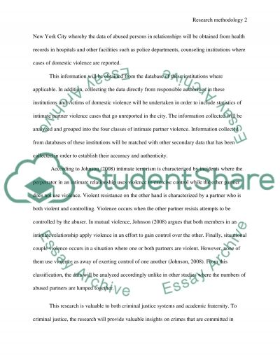 Research methodology essay example