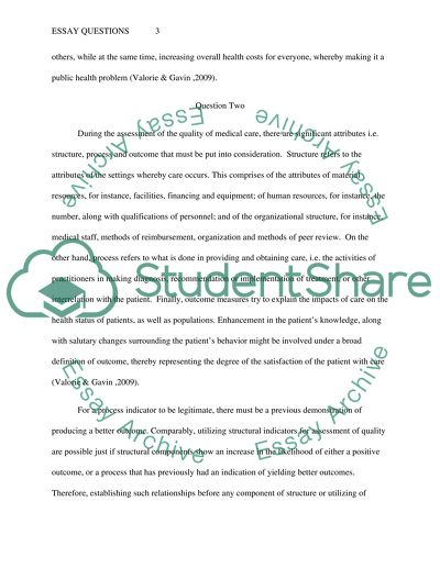 Essay Questions on health sciences and medicine