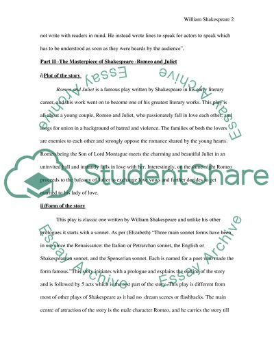 William Shakespeare Essay Example Topics And Well Written Essays
