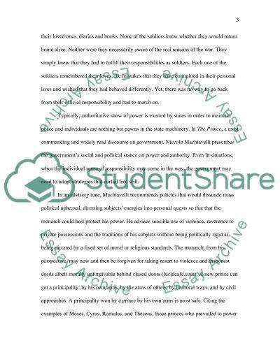 Government responsibility Vs Individual responsibilty essay example