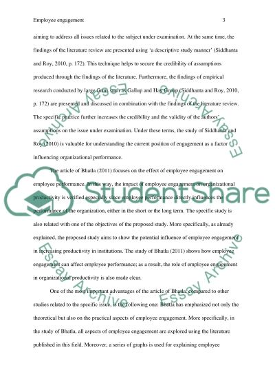 The Relevance of Employee Engagement Indices as A Performance essay example