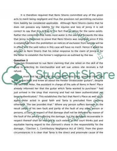 Case Study /Introduction to Business Law essay example