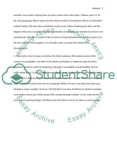 Respond essay