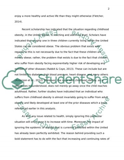 Advocacy Project essay example