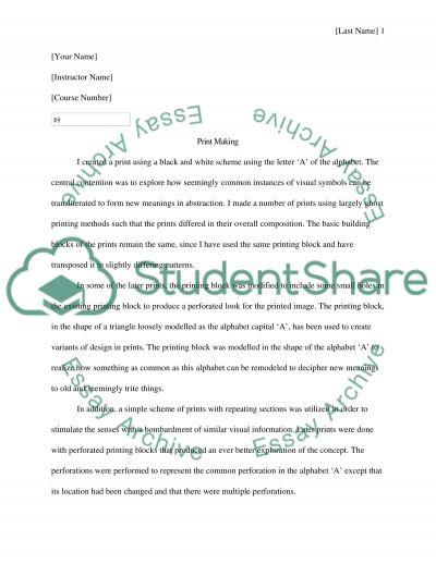 Print making essay