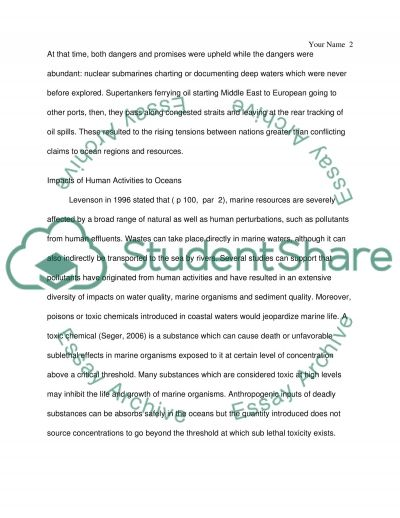 The Effects of Overfishing on Oceans essay example