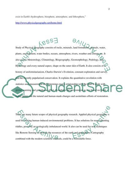 Geography Master Essay Example | Topics and Well Written