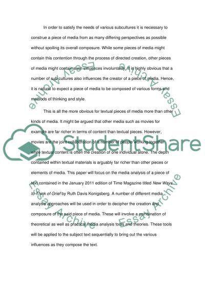 Media theory essay example