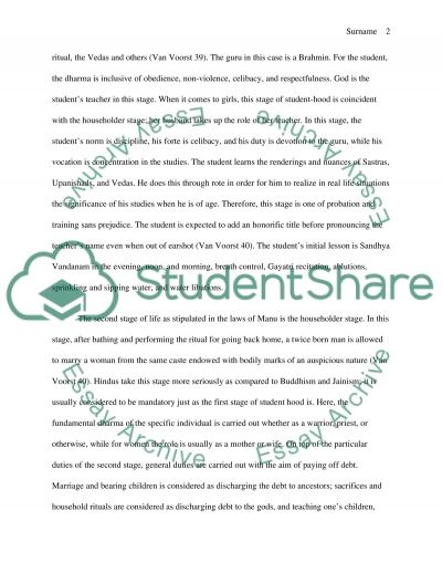 Four Stages of Life essay example