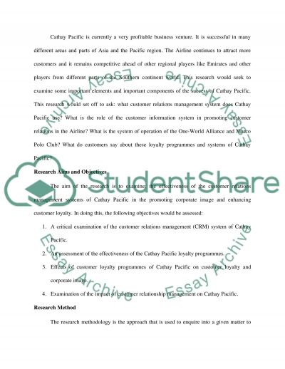 Marketing research essay example
