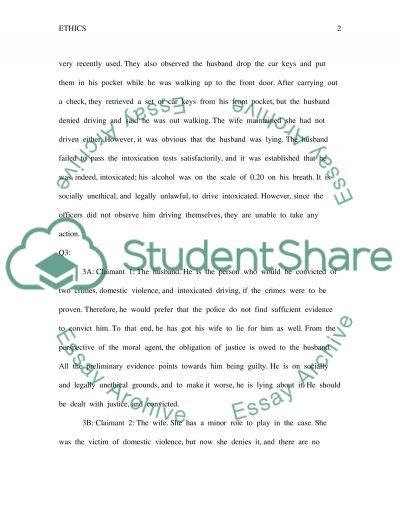 Ethics Worksheet essay example