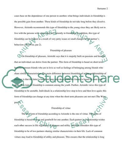 aristotle and friendship essays