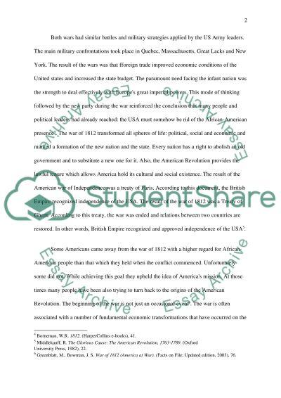War of 1812 essay example