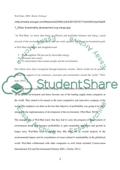 Sustainable Operations Paper essay example