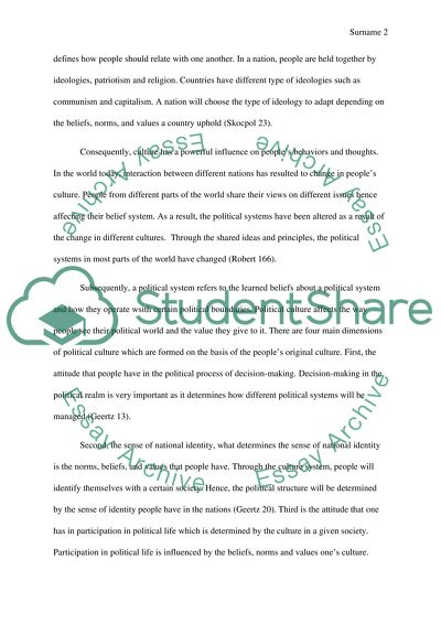 Proposal Essay Sample How Does Culture Affect Politics Thesis For Argumentative Essay Examples also Good Thesis Statement Examples For Essays How Does Culture Affect Politics Essay Example  Topics And Well  Thesis Statement For Friendship Essay