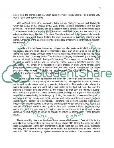 Online Broadcasting and Museums essay example