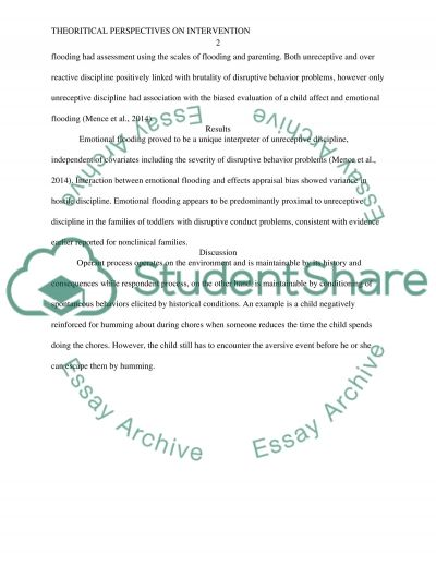 Theoretical Perspectives on Intervention essay example