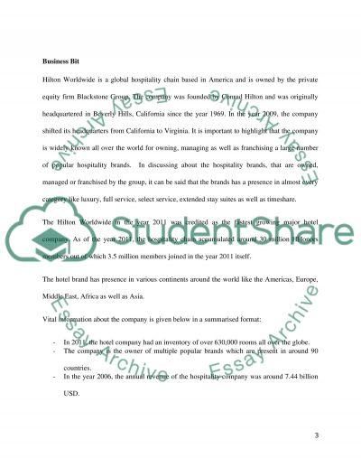 Strategic hospitality management essay example