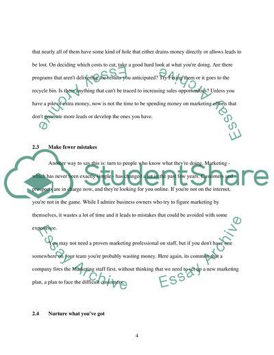 strategic marketing plan thesis