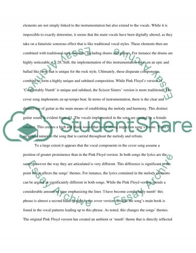Cover Songs essay example