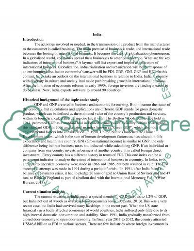 India essay example