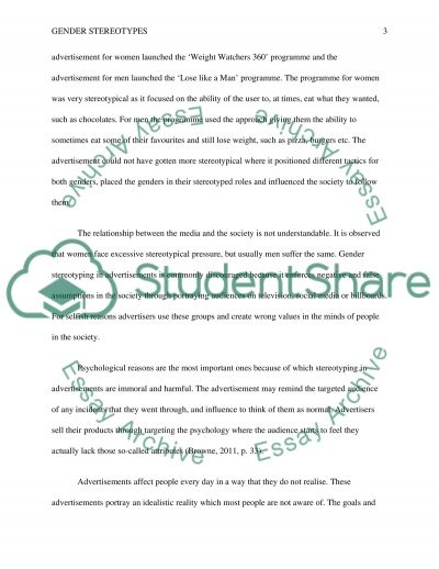 Use of Gender Stereotypes in Advertising essay example