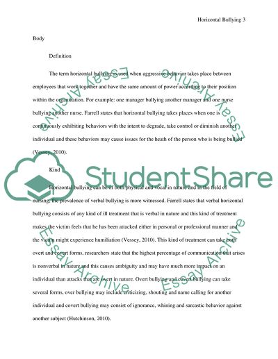 the causes of bullying behavior essay