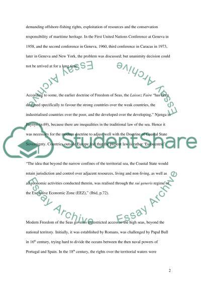 Shipping Law Master Essay essay example