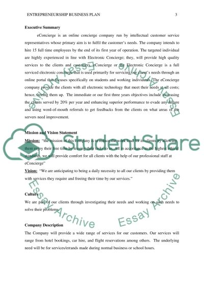 entrepreneurship business plan assignment example topics and entrepreneurship business plan essay example