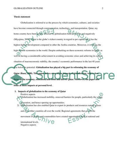 Presentation Globalisation Outline & speech notes