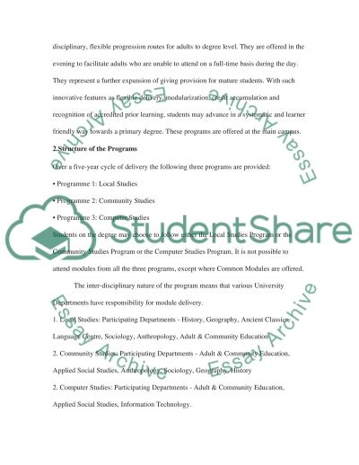 Adult education essay example