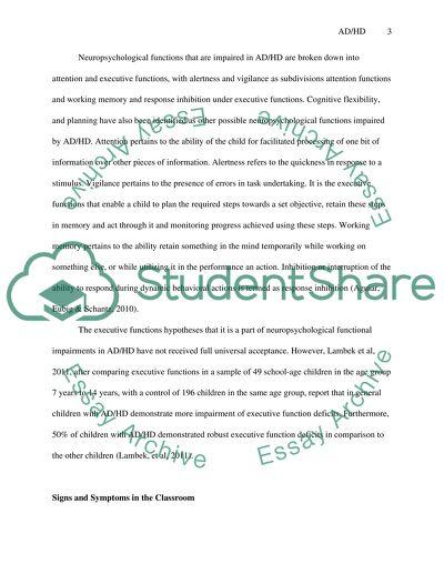 Elementary School Children Attention Deficit Hyperactivity Disorder (AD/HD)