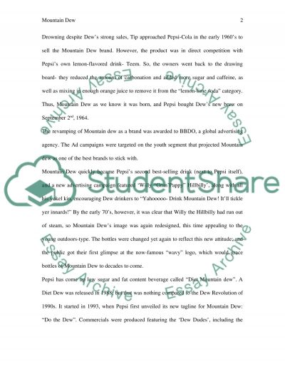 Mountain Dew essay example